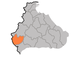 Location of Ich'ŏn County
