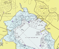 NOAA chart showing a harbor area in Puerto Rico