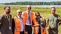 NRW-Umweltministerin Ursula Heinen-Esser - tierische Helfer am Airport Köln-Bonn-10128.jpg