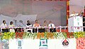 Narendra Modi addressing the gathering at the Foundation Stone Laying Ceremony of the Indian Agriculture Research Institute (IARI), in Hazaribagh, Jharkhand. The Governor of Jharkhand, Smt. Draupadi Murmu.jpg