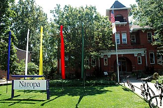 Naropa University - Naropa's main Arapahoe Campus, as seen from Arapahoe Avenue.