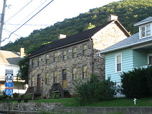 Mill Hall, Pennsylvania - The Nathan Harvey House, a historic site in the borough
