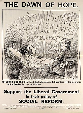 Unemployment benefits - Leaflet promoting the National Insurance Act 1911.