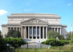 The National Archives building Constitution Avenue facade
