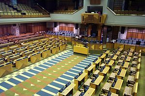 Parliament of South Africa - The chamber of the National Assembly