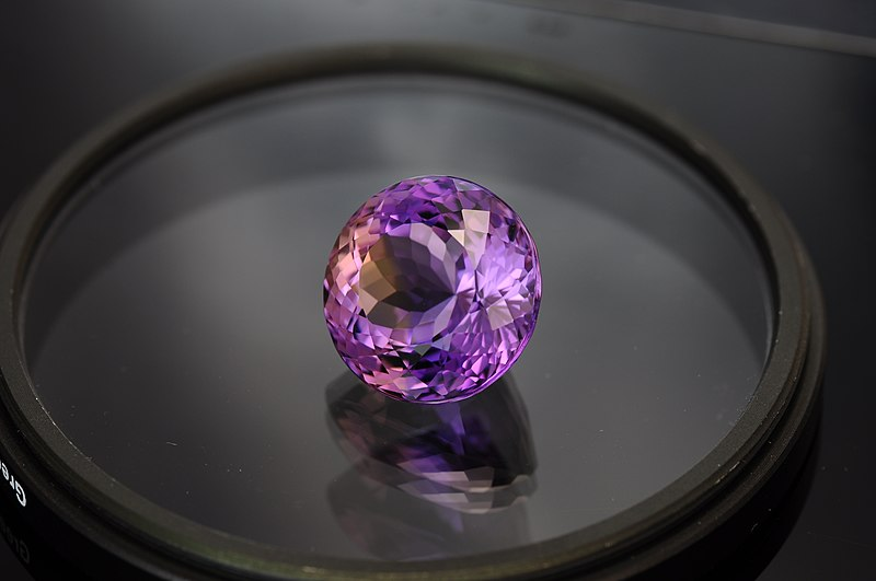 File:Natural ametrine round gemstone.jpg
