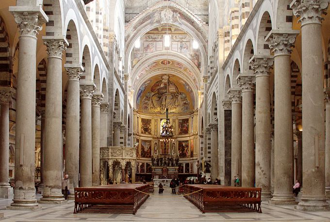 Nave (towards the altar) - Duomo - Pisa 2014
