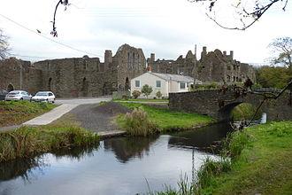 Neath and Tennant Canal - The Tennant Canal, beside the 12th century Neath Abbey