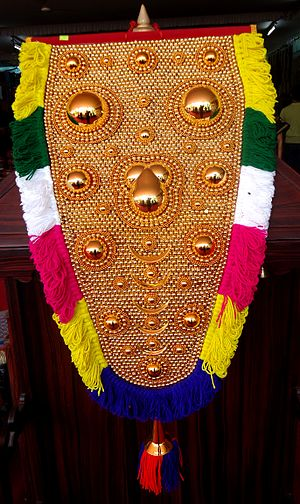 Head Mask of Elephant used in Kerala.