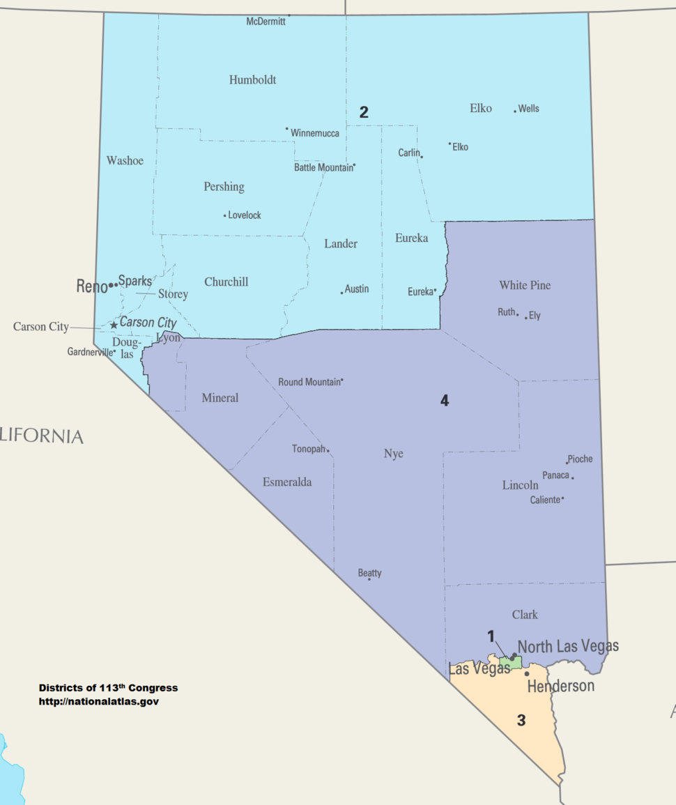 Nevada Congressional Districts, 113th Congress
