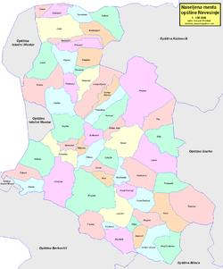 Location of Nevesinje