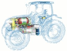 The concept of NH2 Hydrogen Tractor.