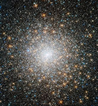 Star cluster - The globular cluster Messier 15 photographed by HST.