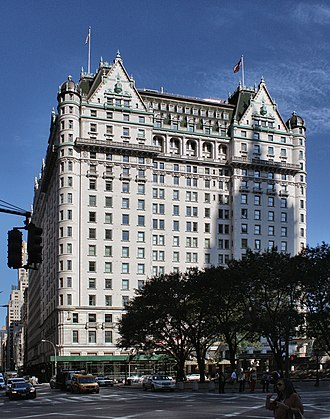 Plaza Hotel - The Plaza Hotel as seen from the corner of 5th Avenue and 58th Street in Manhattan
