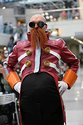 Cosplayer Dr Eggman, New York Comic Con 2014.