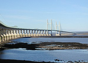 M4 corridor - The Second Severn Crossing, which carries the M4 motorway between England and Wales.