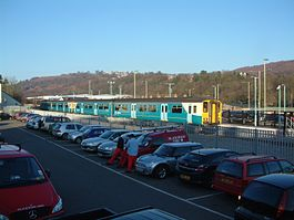 Newbridge (Caerphilly) railway station.JPG