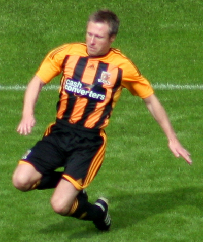 Barmby playing for Hull City in 2011 Nick Barmby 1.png