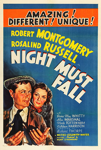 Night Must Fall (1937 film) - Theatrical release poster