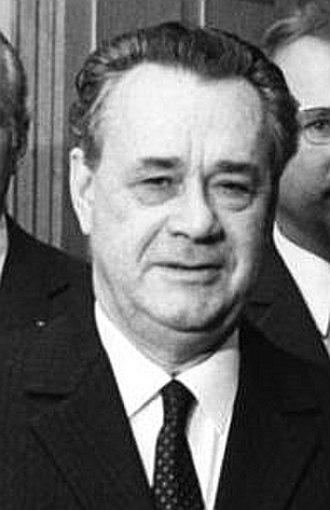 Nikolai Patolichev - Nikolai Patolichev in 1972 (Bonn)