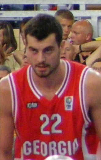 Nikoloz Tskitishvili - Tskitishvili, with the Georgian NT, in 2010.