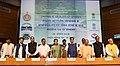 Nitin Gadkari presiding over the signing ceremony of MoU between MoWR and Chief Ministers of six states viz Uttar Pradesh, Delhi, Uttarakhand, Rajasthan, Himachal Pradesh and Haryana regarding the Lakhwar Dam Project.JPG