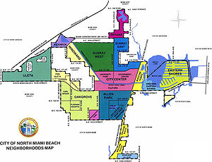 North Miami Beach, Florida - Map of NMB's neighborhoods.