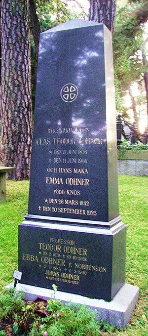 Clas Theodor Odhner - Teodor Odhner's grave in the Norra begravningsplatsen,  Stockholm