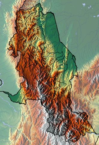 Norte de Santander Department - Image: Norte de Santander Topographic 2