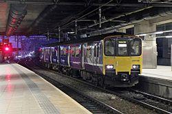 Northern Rail Class 150, 150132, platform 4, Manchester Victoria railway station (geograph 4500606).jpg