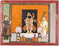 Northwestern India, Rajasthan, Kota - Raja Ram Singh (?) worships Krishna as Brij Nathji (the bridegroom) - 2018.181 - Cleveland Museum of Art.jpg