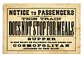 Notice to passengers this train does not stop for meals.jpg