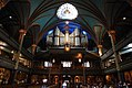 Notre-Dame Basilica (Montreal) view of entrance.JPG