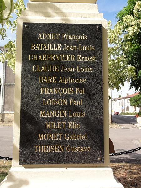 Nouillonpont (Meuse) monument aux morts