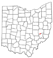 Location of Pleasant City, Ohio