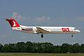 OLT Fokker F100 landing at Hanover Airport.jpg