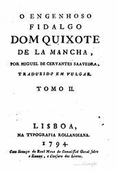 Miguel de Cervantes: O engenhoso fidalgo dom Quixote de la Mancha (1794)