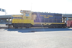 Oakland Terminal Railway - Oakland Terminal Railway 97, the railroad's only locomotive.