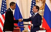 Obama and Medvedev sign Prague Treaty 2010