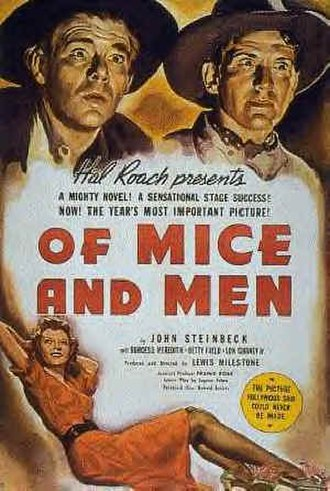 Of Mice and Men - Poster for the 1939 film