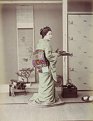 Ogawa Kazumasa - Girl Preparing for Guest.jpg