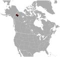 Ogilvie Mountains Collared Lemming Dicrostonyx nunatakensis distribution map.png
