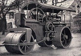Dudbridge Iron Works - Road roller powered by a Dudbridge oil engine