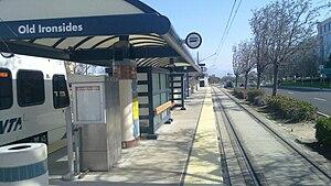Old Ironsides station - Old Ironsides Station platform, looking east