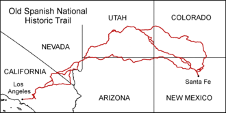 Old Spanish Trail (trade route) - The route of the Old Spanish Trail.