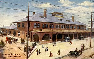 New Orleans Union Station - Postcard view, c. 1900