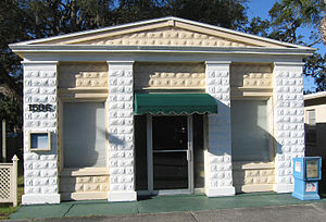 Old Eau Gallie Post Office - Front view of Old Eau Gallie Post Office