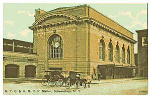 Schenectady station - Old Schenectady Station Post Card