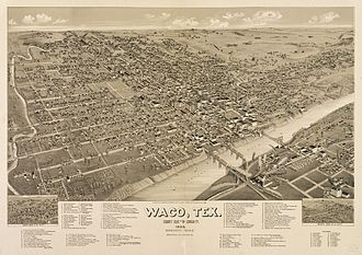 Waco, Texas - Waco in 1886