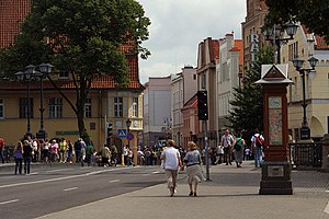 Old town of Klaipeda life